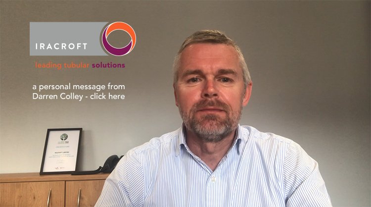 A Personal Message from our MD Darren Colley