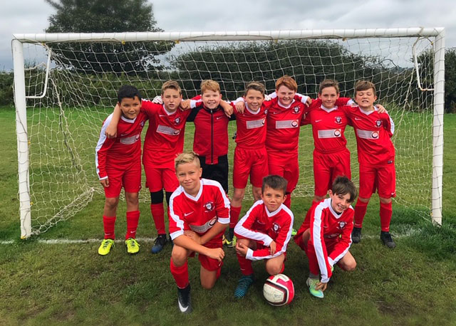 Ringwood Town U13 team sponsored by Iracroft
