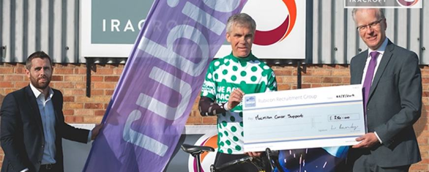 Iracroft and Rubicon are supporting the 31st Macmillan Dorset Bike Ride